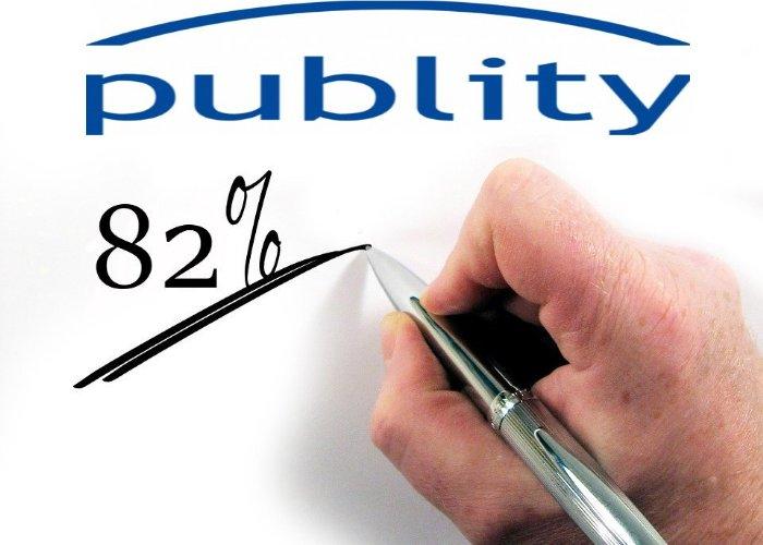 Thomas Olek, hat seinen Anteil an publity weiter auf nunmehr ca. 82 Prozent aufgestockt.